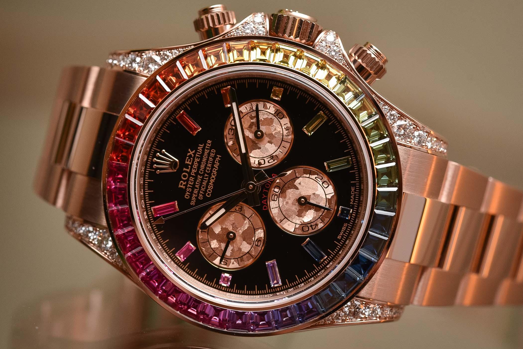 Cheap Rolex For Sale >> Cheap Rolex Daytona Rainbow Everose Gold watches of 2018 ...